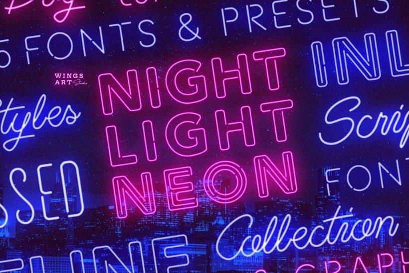 Wingsart_Studio_Retro_Neon_Font_Collection