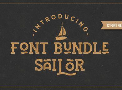 NEWFLIX.Bro_Sailor_Font_Bundle